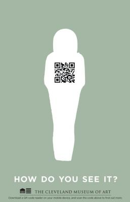 example ad with QR code
