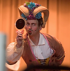 Actor playing role of jester