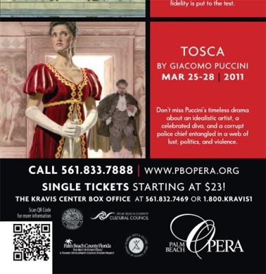 ad from Tosca with QR code