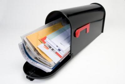 Image of full mailbox